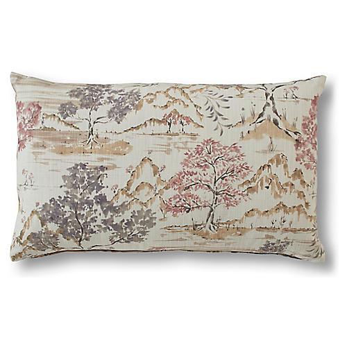 Tucker 15x25 Lumbar Pillow, Plum