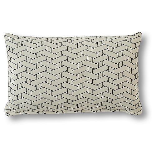 Erin 15x25 Lumbar Pillow, Sapphire