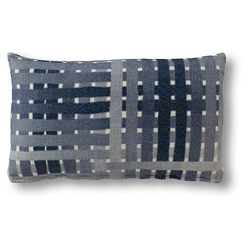 Becca 15x25 Lumbar Pillow, Indigo
