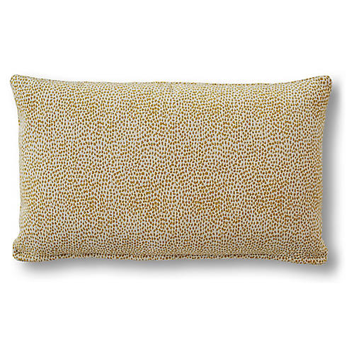 Mila 15x25 Lumbar Pillow, Gold