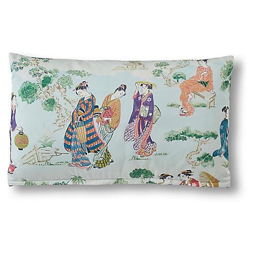 Genevieve 15x25 Lumbar Pillow, Teal