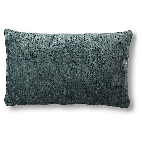 Lucia 15x25 Lumbar Pillow, Adraitic Green