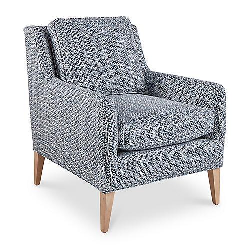 Alice Accent Chair, Indigo