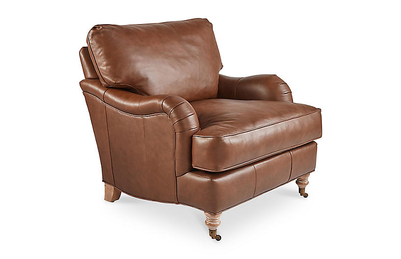 Brooke Leather Club Chair