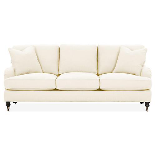 Brooke 3-Seat Sofa, Ivory Crypton