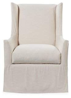 Lili Swivel Chair, Ivory