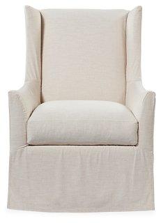 Lili Swivel Chair, Ivory