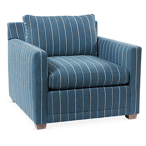 Saunders Chair, Blue