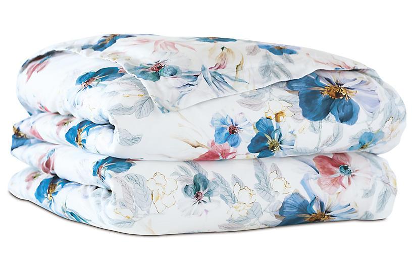 Adare Manor Floral Duvet Cover, Blue
