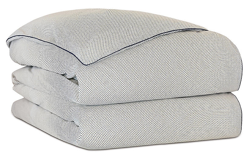 Lodi Dotted Duvet Cover, White