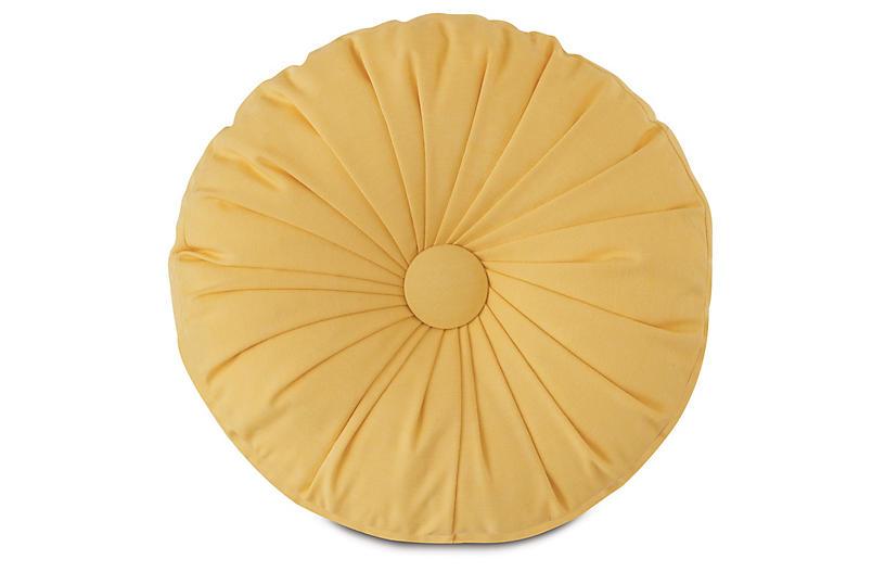 Libby Tambourine Pillow, Yellow
