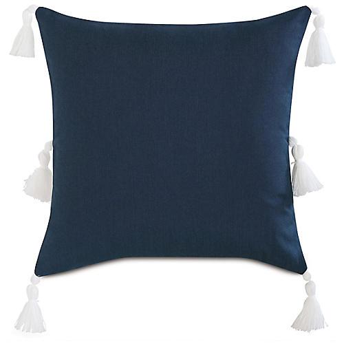 Faye 20x20 Pillow, Indigo/White