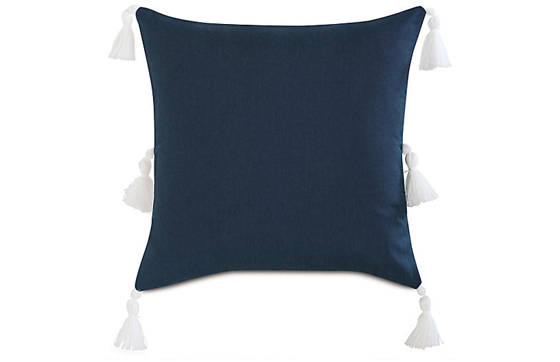 Faye Pillow, Indigo/White