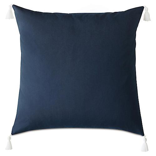 Kaia 36x36 Outdoor Floor Pillow, Indigo