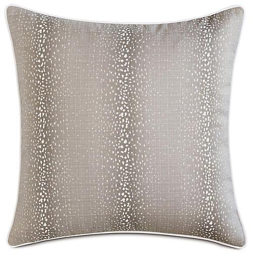 Evie Mink 20x20 Outdoor Pillow, Natural
