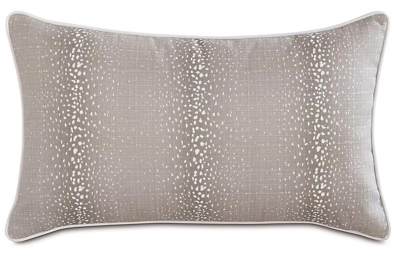 Evie Mink 13x22 Outdoor Lumbar Pillow, Brown