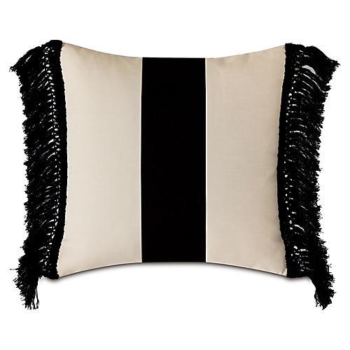 Zona 20x20 Outdoor Pillow, Sand/Black