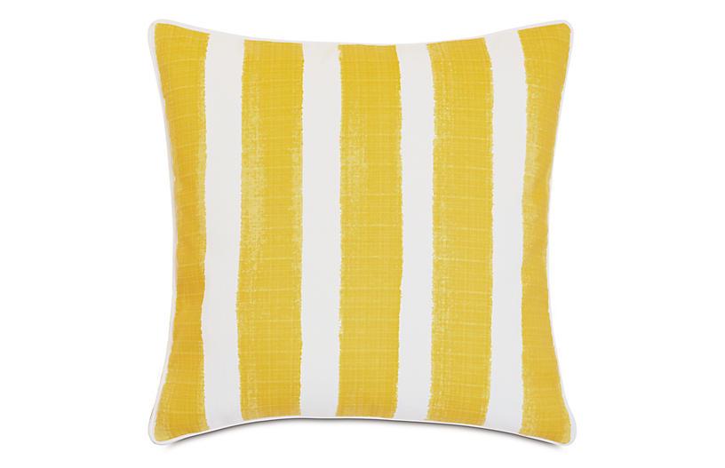 Pergola 20x20 Outdoor Pillow, Yellow/White