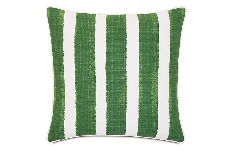 Pergola 20x20 Outdoor Pillow, Basil/White