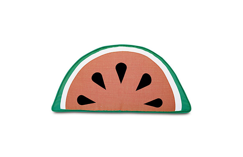 Island 12x23 Outdoor Pillow, Papaya/Jade