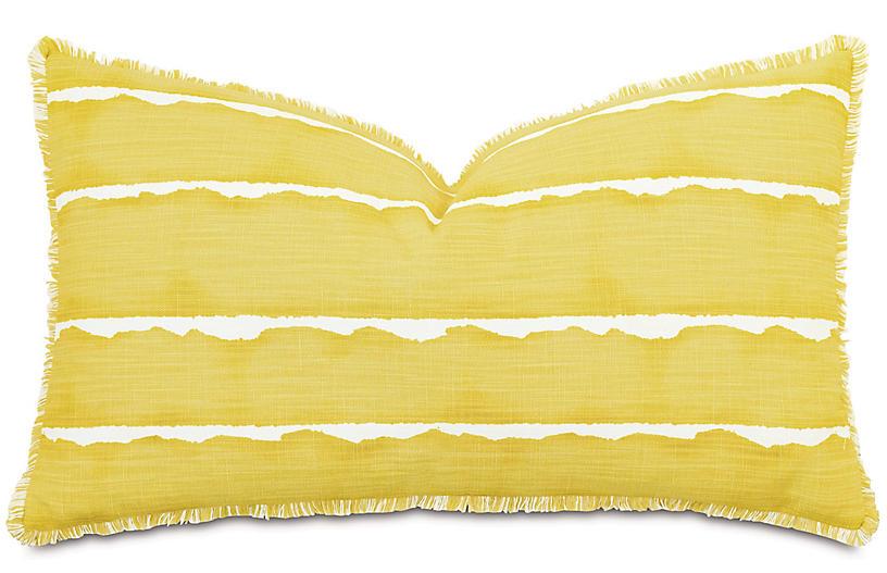 Meyer 26x15 Mini Fringe Pillow, Yellow