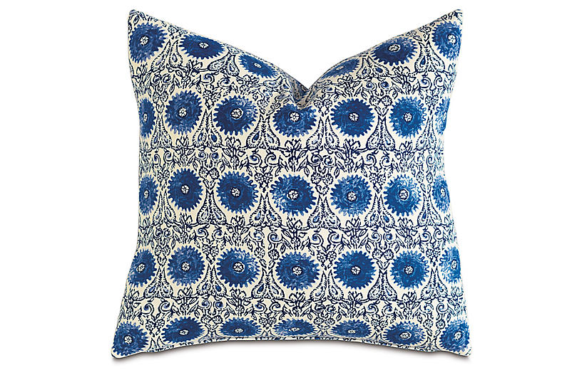 Palermo 20x20 Pillow, Blue/White