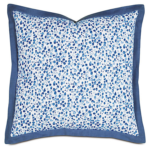 Pineapple Bobble Euro Sham, Blue