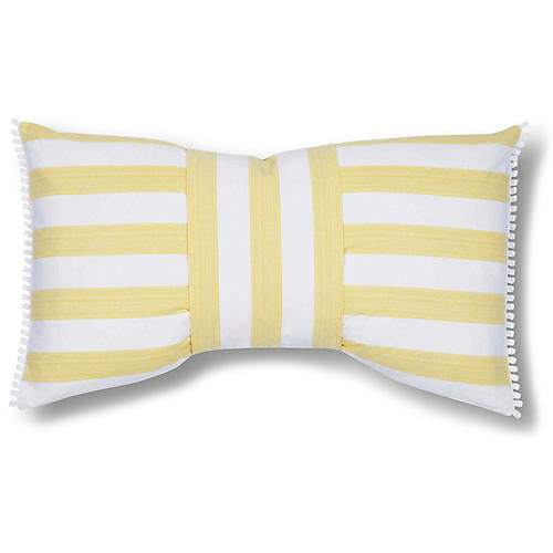 Astrid 15x26 Pillow, Yellow/White