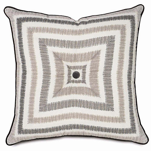 Theo 20x20 Pillow, Taupe/Ivory