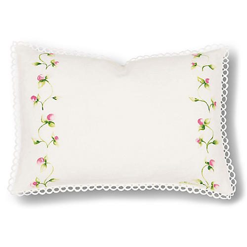 Penelope 12x18 Pillow, Ivory