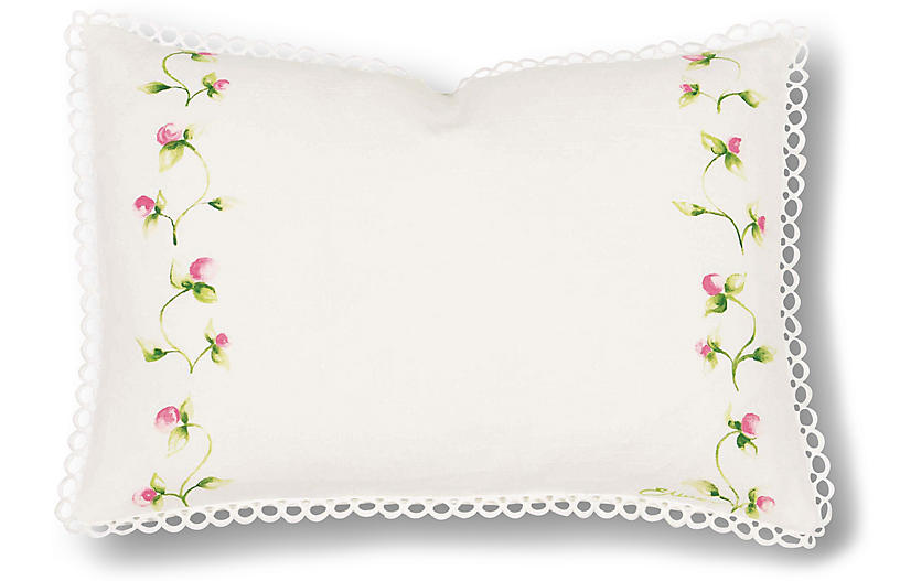 Penelope 12x18 Pillow, Ivory