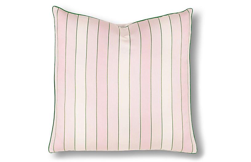 Maeve 24x24 Pillow, Pink/Green