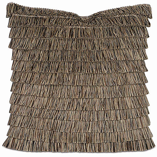 Greer 22x22 Pillow, Brown