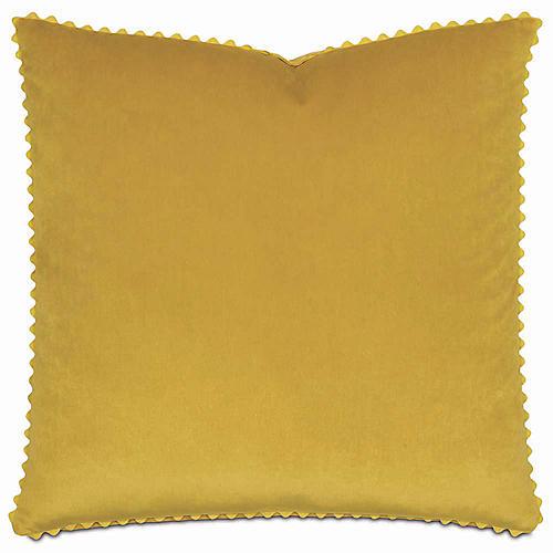 Nellis 22x22 Pillow, Mustard Velvet