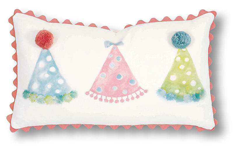 Molly 13x22 Pillow, White/Pink