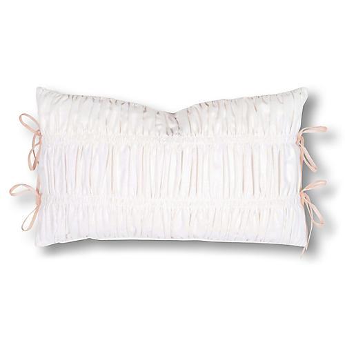Stella 13x22 Pillow, Pink/White