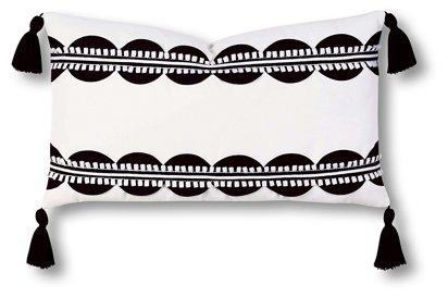 Celerie Kemble Ann 13x22 Outdoor Lumbar Pillow Black White One Kings Lane