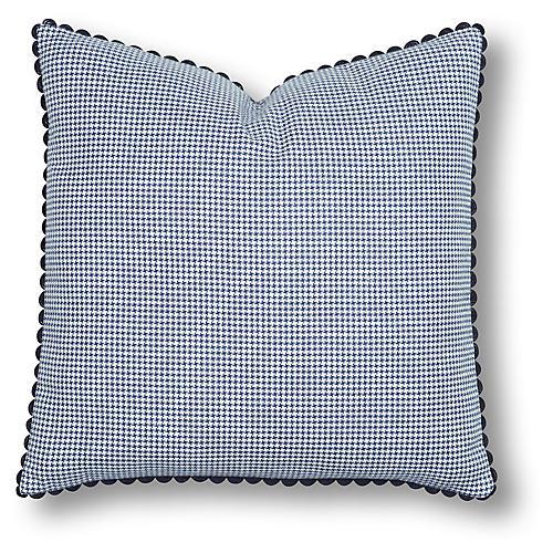 Mira 24x24 Pillow, Blue/White
