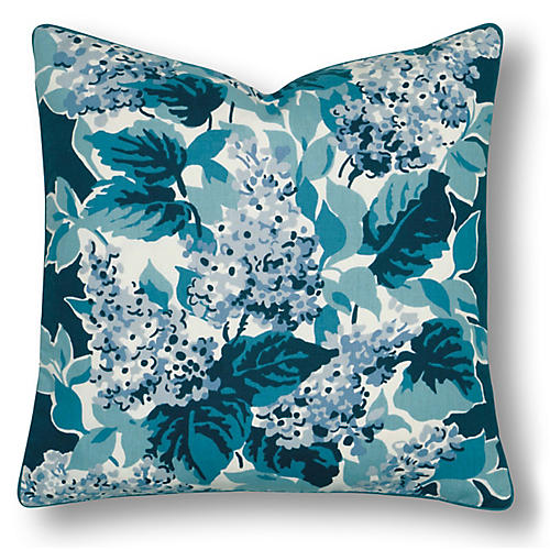 Burke 20x20 Pillow, Blue/White