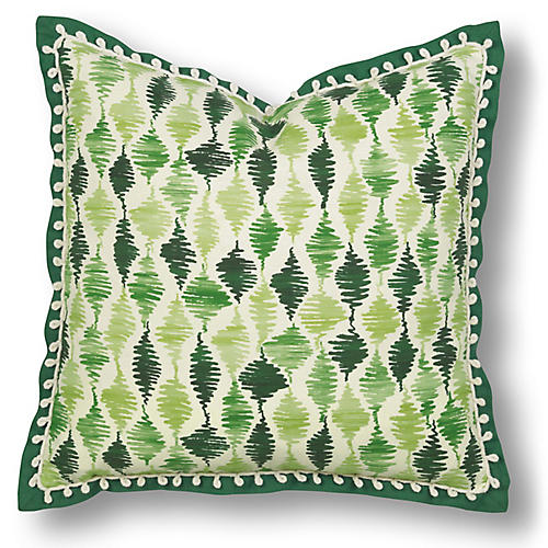 Cooper 20x20 Pillow, Green/White