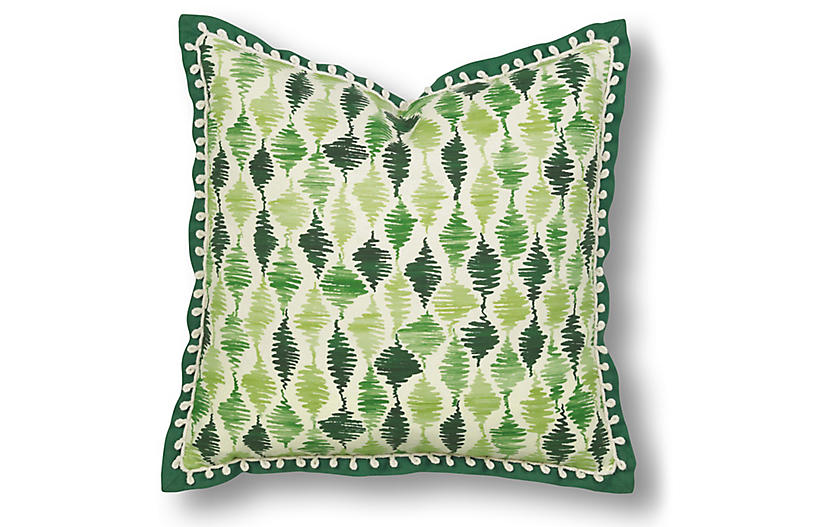 Cooper 20x20 Pillow, Green/White