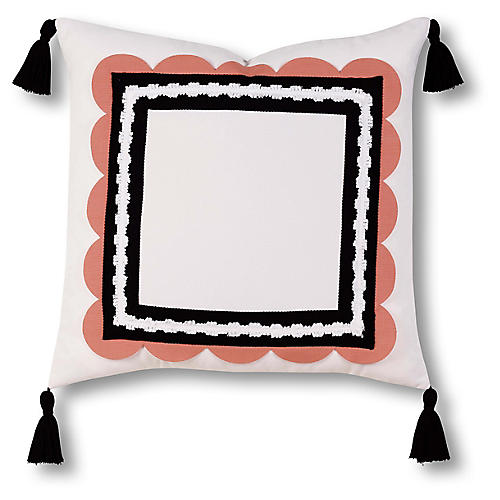 Sophie 20x20 Outdoor Pillow, Black/White