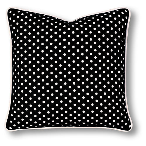 Maxine 18x18 Outdoor Pillow, Black/White
