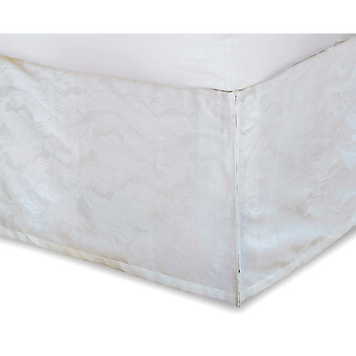 Stratus Bed Skirt, White