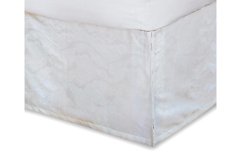 Stratus Bed Skirt, White