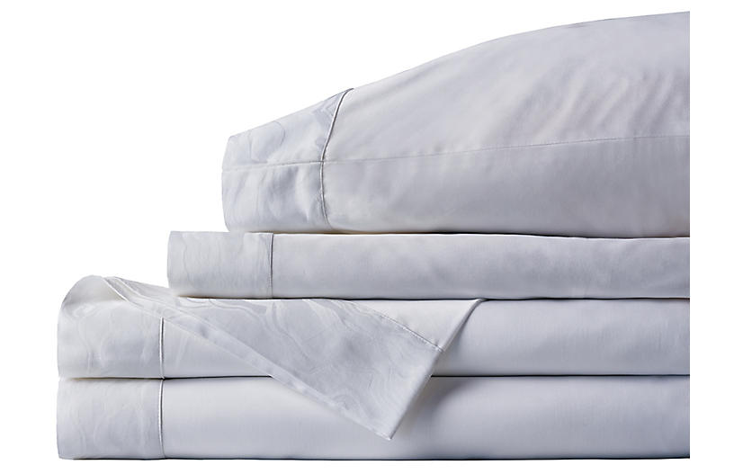 Stratus Sheet Set, White