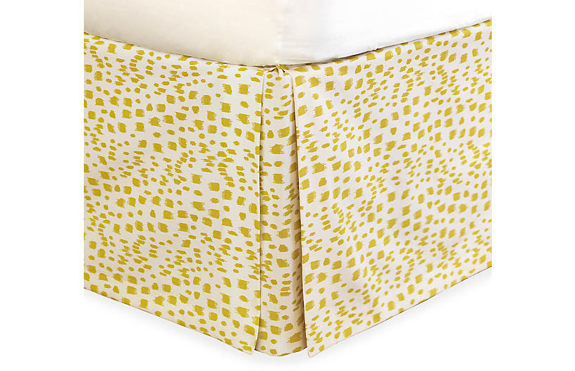 Tropical Dreams Bed Skirt, Yellow