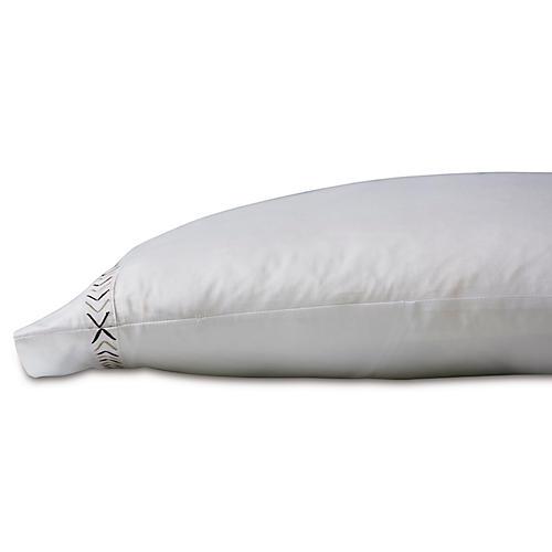 Miri Pillowcase, White/Tan