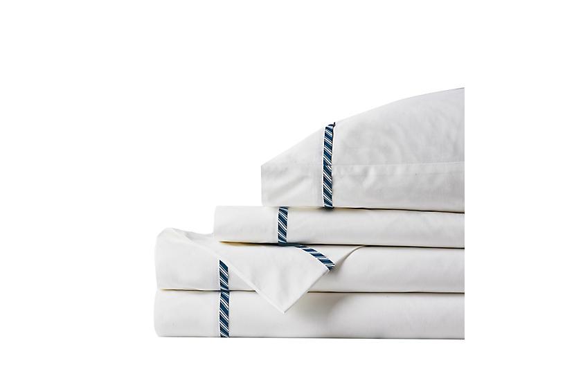Newman Ink Sheet Set, White/Blue