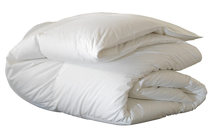 Loure Medium-Weight Comforter, White